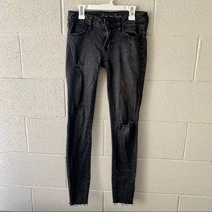 American Eagle black jegging skinny jeans Sz 2